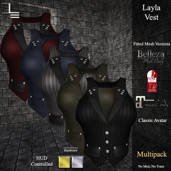 DE Designs - Layla Vest - Fabric Multipack
