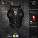DE Designs - Layla Vest - Black Leather