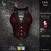 DE Designs - Layla Vest - Red Pinstripe