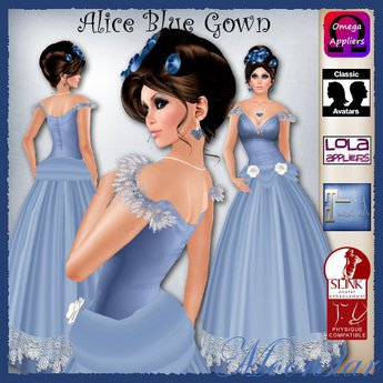 Alice Blue Gown and Jewellery by Moonstar T