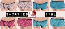.OX Apparel. Shorties for Slink Physique (Bows)