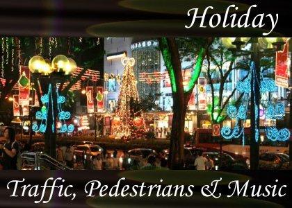 Atmo-Holiday - Traffic Pedestrians & Music 2:00
