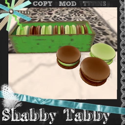 *Shabby* Mint Chocolate Macarons