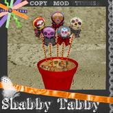 *Shabby* Potted Lollys- Sweet Skulls