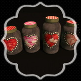 *Shabby* Romance Candy Jars