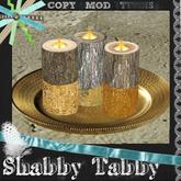 *Shabby* Rustic Log Candles