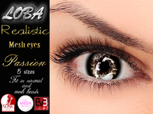 {LOBA} Realistic Mesh Eyes Passion Brown