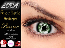 {LOBA} Realistic Mesh Eyes Passion Green