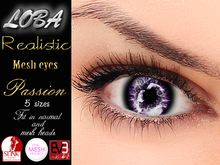 {LOBA} Realistic Mesh Eyes Passion Purple