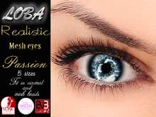 {LOBA} Realistic Mesh Eyes Passion Light Blue