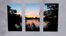 Miss Mo's Sunset above a Lake 3 window