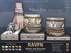**RE** Raven Watch & Bracelet - White Edition * MESH * Unisex * (*Raven Collection*)