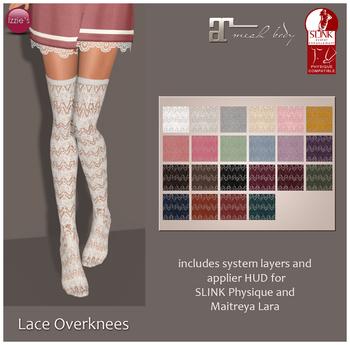 Izzie's - Lace Overknees