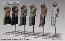 !APHORISM! Sleeveless Cardigan - Fatpack - Check