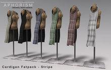 !APHORISM! Sleeveless Cardigan - Fatpack - Stripe