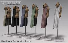 !APHORISM! Sleeveless Cardigan - Fatpack - Plain