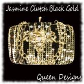 Jasmine Clutch Black Gold