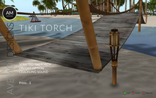 AM - Tiki Torch 3 prims - scripted with on/off
