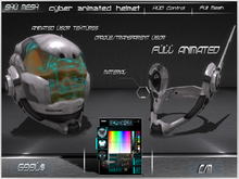 cyber animated helmet -Shu Mesh-