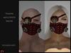 ! [NW] Steampunk mask & eyepatch dark red