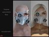 ! [NW] Steampunk mask & eyepatch white