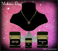 Mothers Day Jewelry - Mom Complete Necklace Earrings Bracelet Ring Set