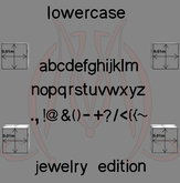 Sculpted Alphabet LOWERCASE JEWELRY  FULL PERM SculptMaps