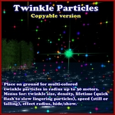 Twinkling Stars Particle Effect (twinkle star emitter) - copy version
