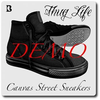 Blackburns Thug Life Canvas Sneakers DEMO