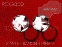 *p-a-b Simple Diamond Pierce