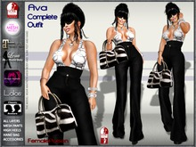 !FP! Ava Complete Outfit - Top Pants Heels Access - Slink Physique TMP Maitreya Omega KL Lena and Lolas Appliers
