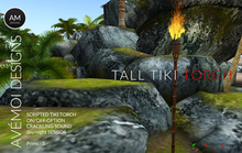 .:: AM ::. Tall Tiki Torch DUO - Scripted with On/Off, Sensor, sound and flicker options