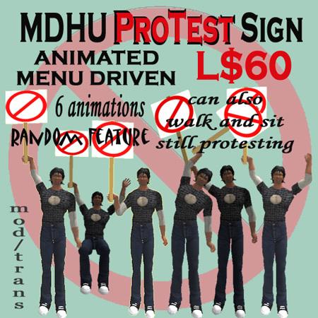 MDHU Protest Sign  box - Animated