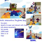 Kids Playtime Carpet with toy giver interactive (crated)