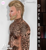 *~*Damselfly*~*Adan Non-Rigged Mesh Dark Browns