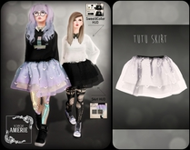 AMERIE - Tutu Skirt(WHITE)