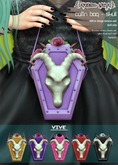 .{PSYCHO:Byts}. Coffin Bag - Skull :Vive Pack: