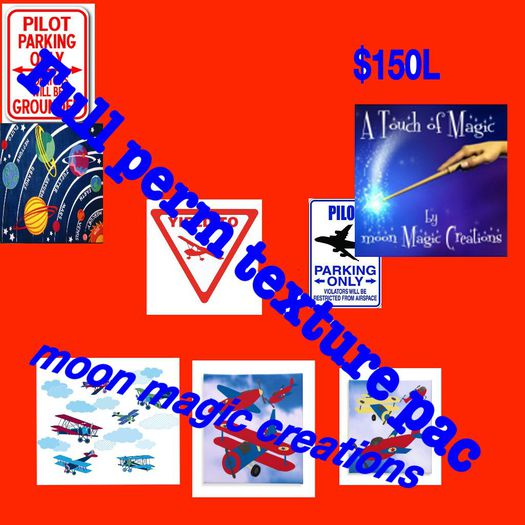 Full Perm Air plane & Pilot sign textures - wall paper etc.