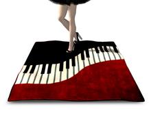 [Px] Piano Keyboard Rug {mesh} T