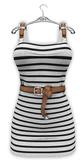 !Rebel Hope - Summer Vacation Mesh Dress Stripe Black