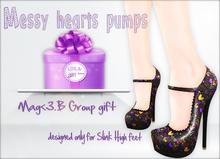 Mag<3.B Messy hearts  pumps group gift