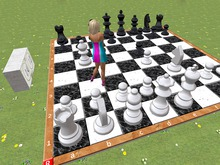 Large Garden Chess Board - DEMO