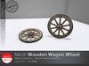 [DD] - FULL PERM  Wooden Wagon Wheel