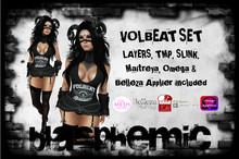 BLASPHEMIC - VOLBEAT SET - WEAR!!!