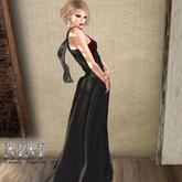 M&M-YUZU LONG DRESS MESH BLACK-