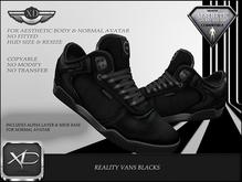 Reality Vans Black  - (NIRAMYTH) - AESTHETIC