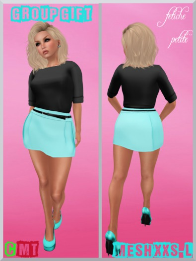 .:f etiche petite:. Group gift may - Mesh Skirt Dress mint