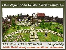 """Mesh Japan/Asia Garden """"Sweet Lotus"""" #2  172 Prim=32x32m co/mo"""