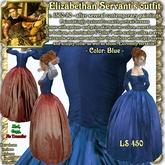 """Wunderlich's """"Maria""""-Blue Renaissance-Elizabethan Servant Outfit"""