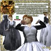 """Wunderlich's """"Maria""""-Black Renaissance-Elizabethan Servant Outfit"""
